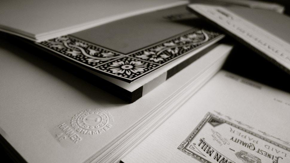 Im Atelier: Papiersorten - Einar Turkowski