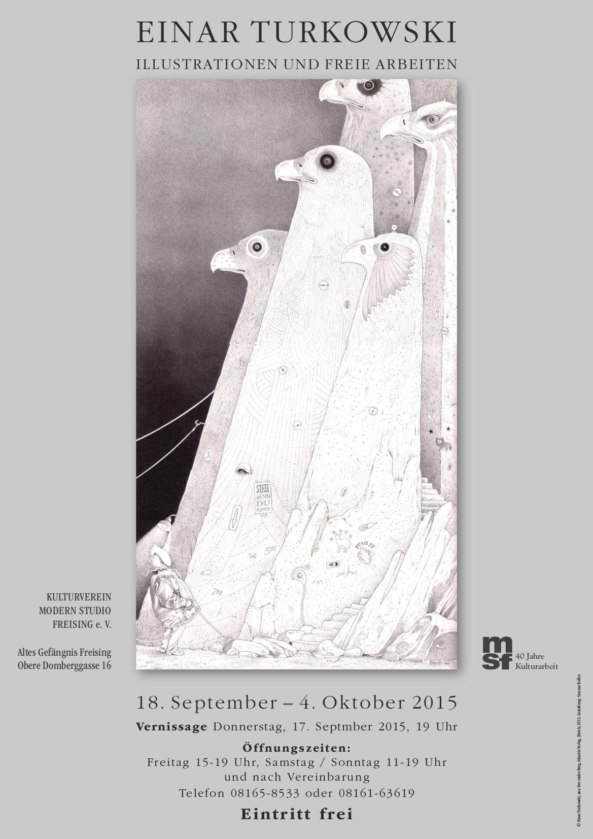 Plakat Ausstellung Freising - Einar Turkowski