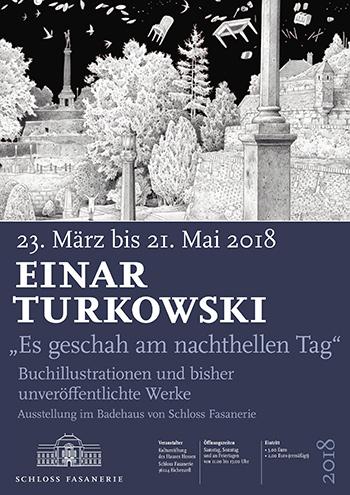 Plakat Ausstellung Es geschah am nachthellen Tage - Einar Turkowski