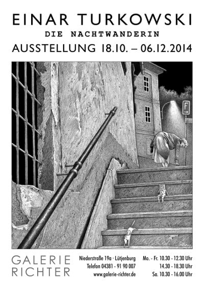 Plakat Ausstellung Nachtwanderin